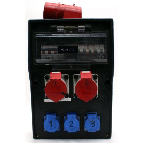 Used | PSU 32A CEE red >2x CEE 16A  3x C16 / 3x schuko